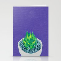 succulent Stationery Cards featuring Succulent by marlene holdsworth
