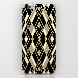 Art Deco Grey Gold iPhone Skin