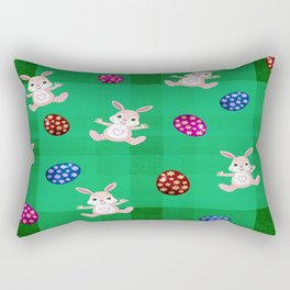 Easter Bunny Pattern ( Version II ) Rectangular Pillow