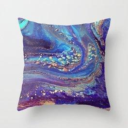 Iridescent Fantasy Abstract Throw Pillow