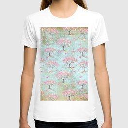 Spring Flowers - Cherry Blossom  Tree Pattern T-shirt