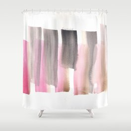 [161228] 28. Abstract Watercolour Color Study|Watercolor Brush Stroke Shower Curtain