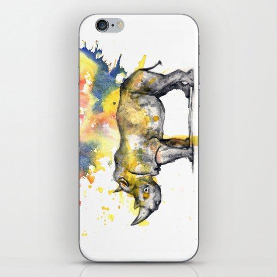 Rhino in a Splash of Color iPhone & iPod Skin