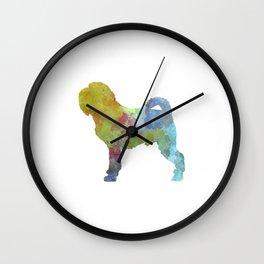 Griffon Belge in watercolor Wall Clock