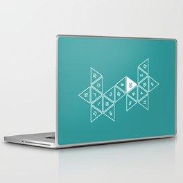 Teal Unrolled D20 Laptop & iPad Skin