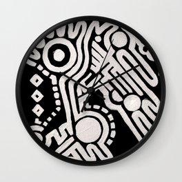 Frieze, Acrylic on Canvas Wall Clock