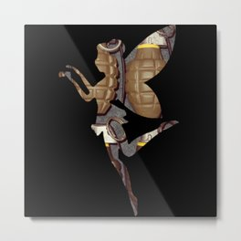 Grenade Fairy Metal Print