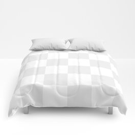Large Checkered - White and Pale Gray Comforters
