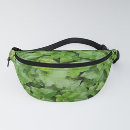 Plant patterns in green Fanny Pack