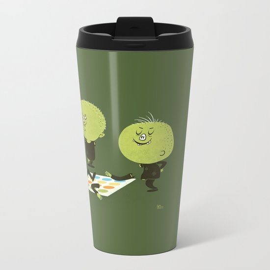 Zombie Twister Metal Travel Mug