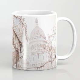 Montmartre Paris Carousel with Sacre Coeur Coffee Mug