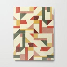 Tangram Wall Tiles 02 #society6 #pattern Metal Print