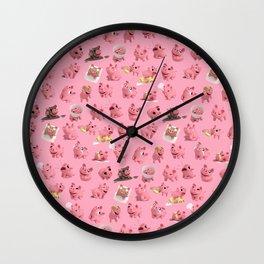 Rosa the Pig Pattern Wall Clock