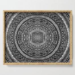 Zentangle Mandala Black and White Serving Tray