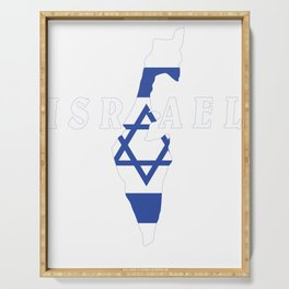 Israel Flag Map - Jew Jersualem Pride Gift Serving Tray