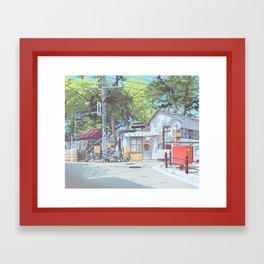 Kanagawa Police Box Framed Art Print