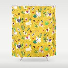 Alpacas & Maracas  Shower Curtain