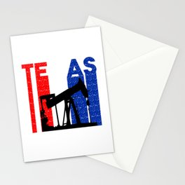 Texas Oilfield design for Men Stationery Cards