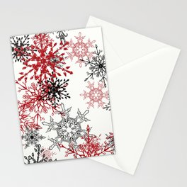 snowflake shine - 2 Stationery Cards