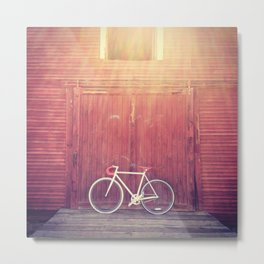 """Nothing compares to the simple pleasure of a bike ride."" Metal Print"