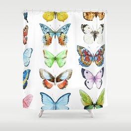 Butterfly Pattern 05 Shower Curtain