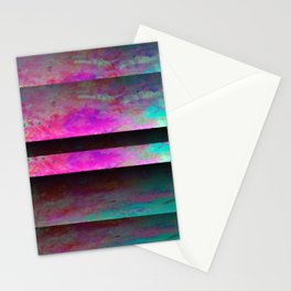 Turquoise Color Blinds Stationery Cards
