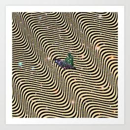 Cosmic Surfer Bro Art Print