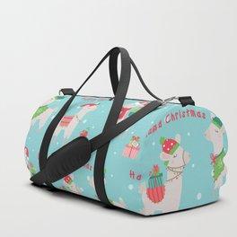 Christmas llamas IV Duffle Bag