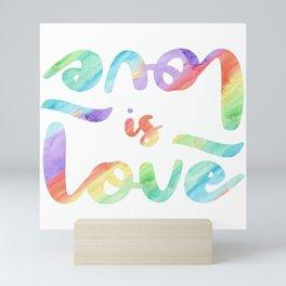 Pride Gay Lesbian Homo Rainbow CSD Gift Mini Art Print