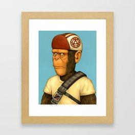 Messenger Monkey Framed Art Print