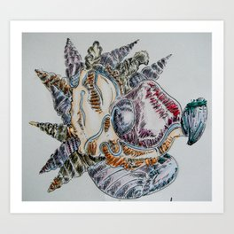 Post Nuclear embroidery Art Print