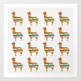 Lots of Llamas Art Print