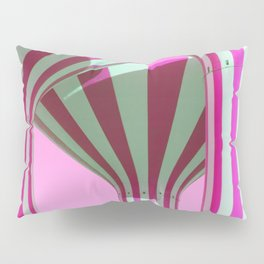 Pink Water Towers Pillow Sham