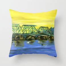 New Hope-Lambertville Bridge Throw Pillow