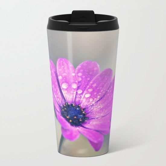 Sunshine flower purple Metal Travel Mug