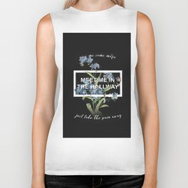 Harry Styles Meet me in the hallway graphic design artwork Biker Tank