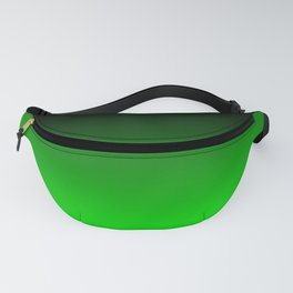 Black Lime Green Neon Nights Ombre Fanny Pack