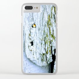 Weathered Barn Wall Wood Texture Clear iPhone Case