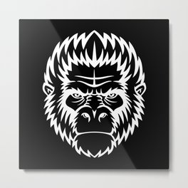 Gorilla Monkey Head Gift Idea Design Motif Metal Print