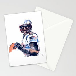 """GOAT"" featuring Legend Tom Brady Stationery Cards"