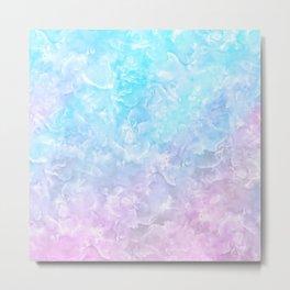 Pastel Scaly Marble Texture Metal Print
