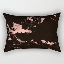 Black Marble #7 #decor #art #society6 Rectangular Pillow