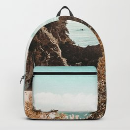 California Coast | Big Sur McWay Falls Coastal Camping Road Trip Tapestry Art Print Backpack