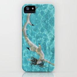 Blacktip Reef Shark Man iPhone Case