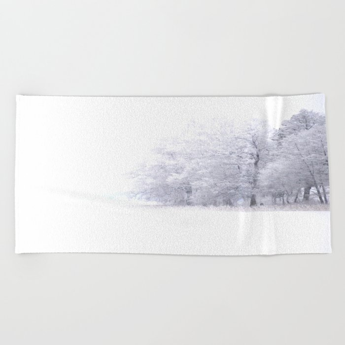 White Forest Beach Towel