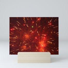 Red Fireworks Mini Art Print