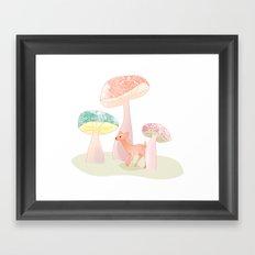 Mushrooms trees Framed Art Print
