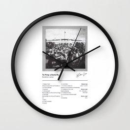 Kendrick Lamar - To Pimp a Butterfly Wall Clock