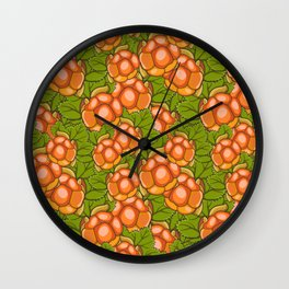 Cloudberry nature pattern Wall Clock