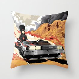 Back to the Future III (Three) Throw Pillow